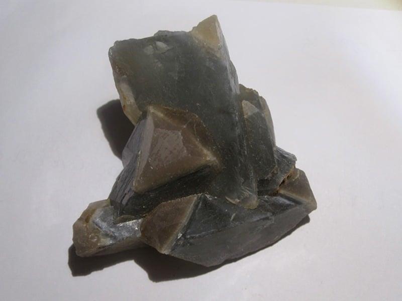 Baryte bleue, mine de Maine Reclesne, Saône et Loire (Morvan).