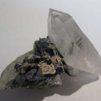 Hématite et quartz, Le Plan du Lac, Saint-Christophe-en-Oisans, Isère.
