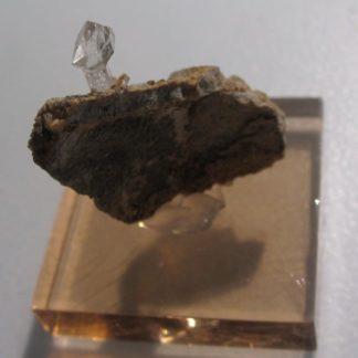 Quartz en cristal sceptre de septaria, Rémuzat, Drôme.