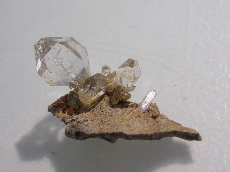 Quartz diamant de septaria, Rémuzat, Drôme.