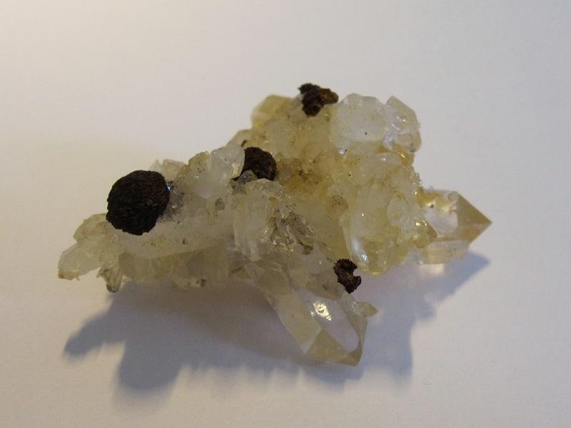 Quartz et sidérite en limonite, Plan du Bouchet, Orelle, Savoie.