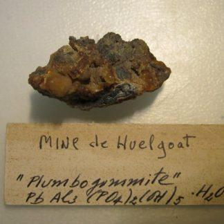 Plumbogummite, Huelgoat, Finistère, Bretagne.