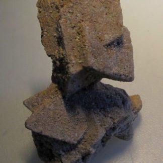 Grès pseudomorphose de macle de calcite, Cabrerets, Lot.