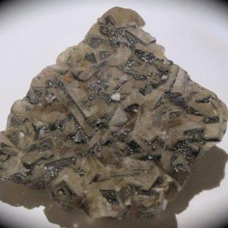 Galène sur fluorine, mine du Rossignol, Chaillac, Indre.