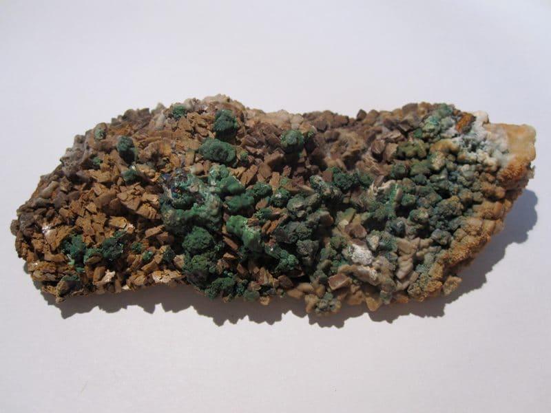 Malachite, Azurite et Bournonite, Usclas-du-Bosc (Loiras), Hérault.