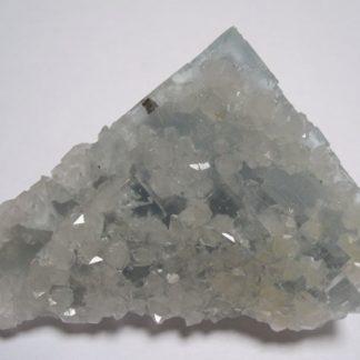 Fluorine bleue et quartz, mine d'En Bournegade à Embournegade, Tarn.