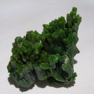 Pyromorphite en cristaux verts, Les Farges, Ussel, Corrèze.