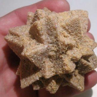 Pseudomorphose : grès après calcite, Cabrerets, Lot.