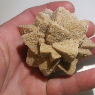 Grès après calcite (pseudomorphose), Cabrerets, Lot.