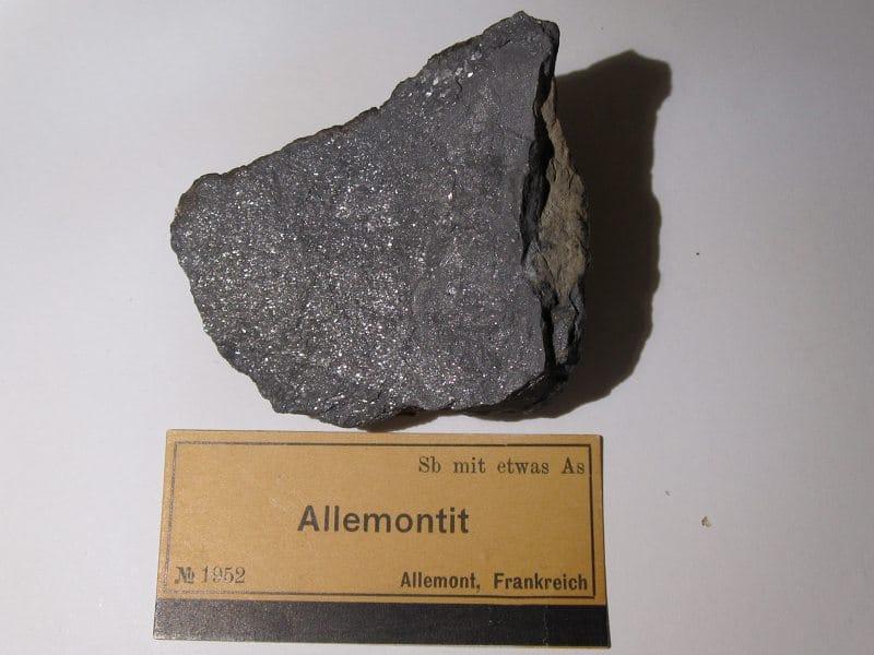 Allemonite, Les Chalanches, Allemont, Oisans, Isère.