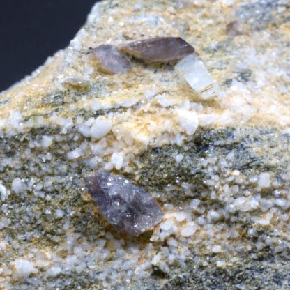 Axinite, Rochers d'Armentier, Oisans, Isère, France.
