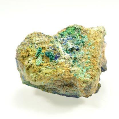 Azurite et conichalcite, Hubac de Jourdan, Alpes-Maritimes.