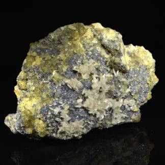 Barytine, fluorine, galène, pyromorphite, Chaillac, Indre.