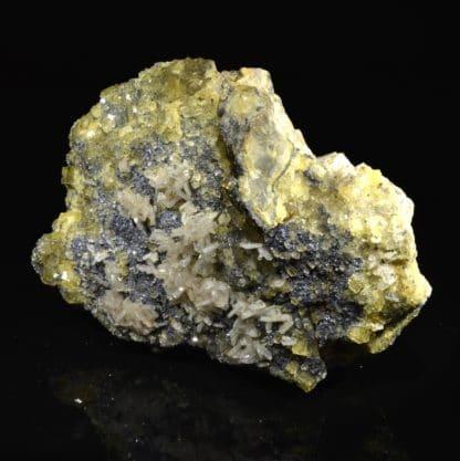 Barytine, fluorine, galène, pyromorphite, Chaillac, Indre