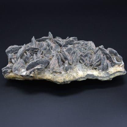 Barytine et galène sur fluorine, Chaillac, Indre, France.