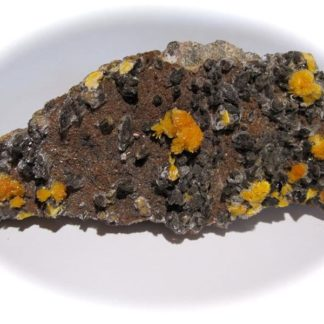 Boltwoodite, mine de Rössing, Arandis, Namibie.