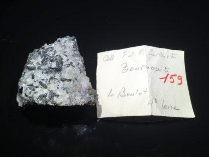 Bournonite, fluorine, Le Barlet, Langeac, Haute-Loire