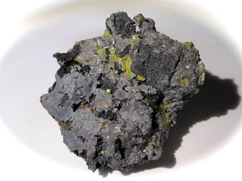 Bromargyrite et Chlorargyrite (cérargyrite) de Broken Hill, Australie.
