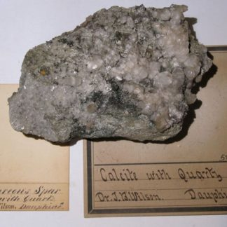 Calcite et quartz du Dauphiné (spécimen du XIXème siècle).