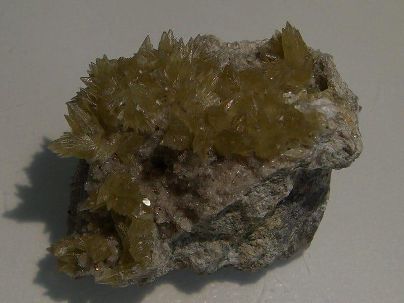 Calcite verte de Laguépie, Tarn-et-Garonne.
