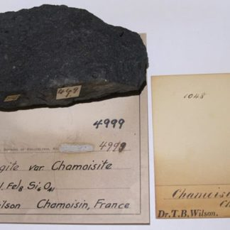 Thuringite (chamosite), Chamoson, Valais, Suisse.