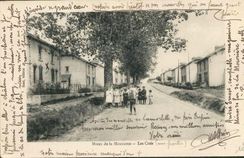 Mines de la Mourière, les cités à Piennes en Meurthe-et-Moselle.