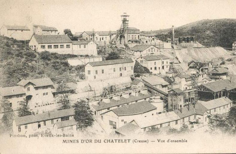 Mine d'or du Châtelet (Creuse).