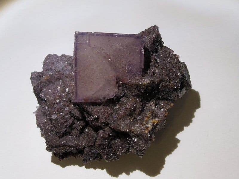 Fluorite, Elmwood Mine, Smith Co., Tennessee, États-Unis d'Amérique.