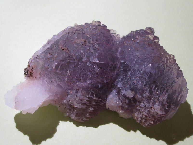 Fluorine violette octaèdrique, mine de Fontsante, Var.