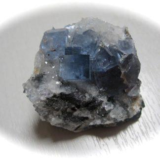 Fluorine bleue de la mine du Burg (Burc), Tarn.
