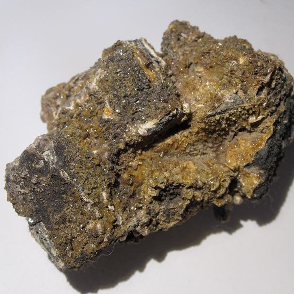 Fluorine sur sidérite, Peyrebrune, Tarn.