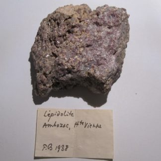 Lépidolite, Ambazac, Haute-Vienne, Limousin.