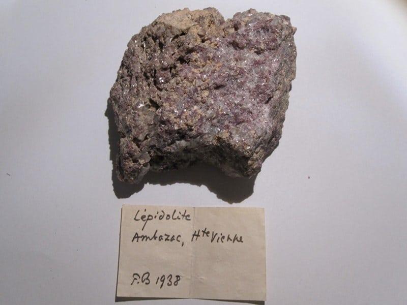 Lépidolite, Ambazac, Haute Vienne, Limousin.