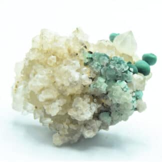 Malachite sur Quartz, Bouche-Payrol, Brusque, Aveyron.