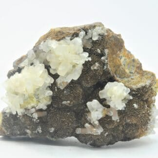 Calcite, Sidérite et Fluorine, carrière du Rivet, Peyrebrune, Tarn.