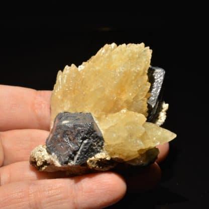 Calcite et galène, Planioles, Lot