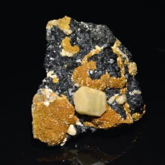 Sphalérite, sidérite et calcite, Peyrebrune, Tarn