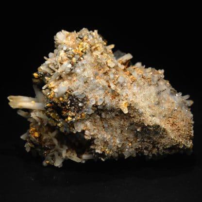 Chalcopyrite et quartz, Dalnegorsk, Sibérie, Russie.