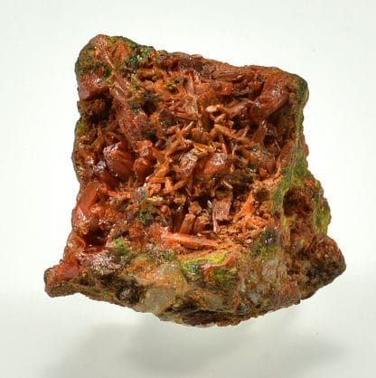 Crocoïte, embreyite, pyromorphite, Beresovsk, Oural, Russie.