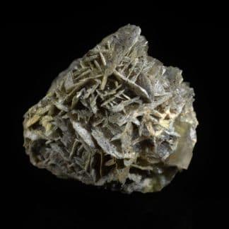 Fluorine, barytine, cérusite, galène, mine de Chaillac, Indre.