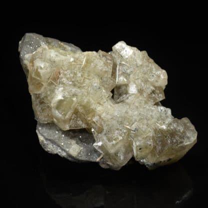 Fluorine, barytine et galène, mine du Rossignol, Chaillac, Indre.