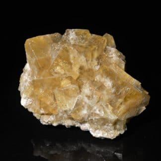Fluorine et chalcopyrite de l'Argentolle, Saône-et-Loire, Morvan.