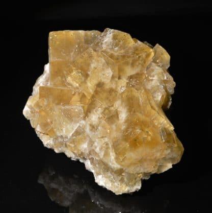 Fluorine et chalcopyrite de L'Argentolle, Saône-et-Loire.