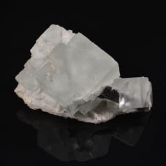Fluorine bleue sur quartz de Montroc (Mont-Roc), Tarn.