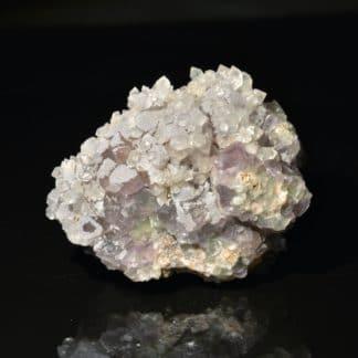 Fluorine et quartz, Saint-Laurent-Les-Bains, Ardèche.