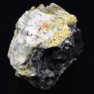 Galène, cérusite, pyromorphite, L'Argentolle, Saône et Loire, France.
