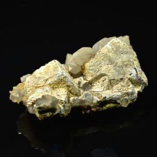 Galène, hydroxyapatite, quartz et pyromorphite de L'Argentolle, Morvan, Saône-et-Loire