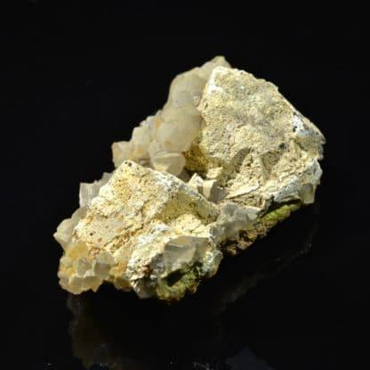 Galène, Hydroxyapatite et Pyromorphite, L'Argentolle, Saône-et-Loire.
