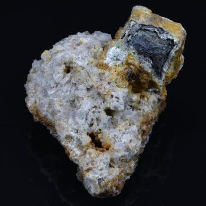 Galène et lead hydroxylapatite, L'Argentolle, Saône-et-Loire, Morvan.