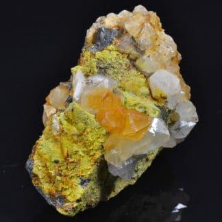 Galène, pyromorphite, wulfénite, L'Argentolle, Saône et Loire, France.